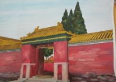 清西陵写生图片