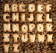 饼干字母图片