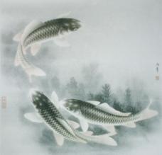 路雨年工笔鱼类选集图片