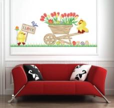 可爱小鸭组合贴图片