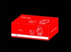 hello kitty盒子 纸盒 (展开图)图片