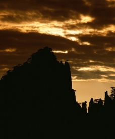 泰山夕阳图片