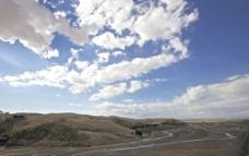 响沙湾的蓝天白云图片