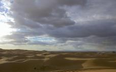 乌云下的沙漠图片
