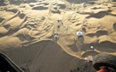 航拍内蒙古响沙湾旅游景区之响沙湾港图片