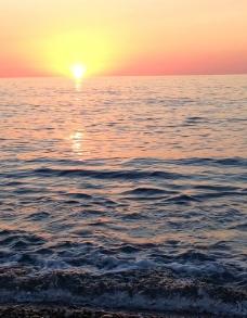 日落东海图片