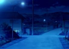小镇的夜图片