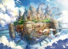 天空之城 船图片