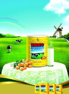 荷兰乳牛宣传单图片