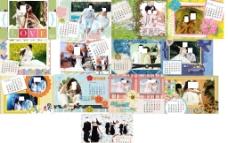 七彩童年 2013年台历模板图片