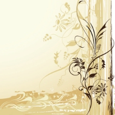 矢量素材淡雅古典图案背景