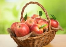 红苹果 果篮图片