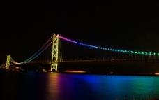 大桥夜景图片
