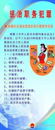 惩治职务犯罪展板图片