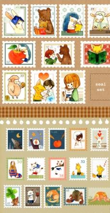 卡通邮票图片