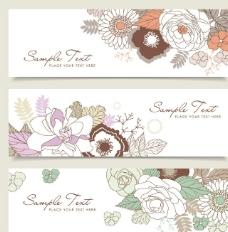 浪漫古典花纹花朵 横幅图片