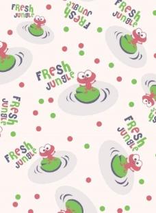 青蛙字母图片