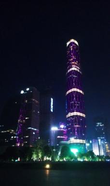 广州西塔夜景图片