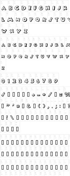 Mickey 英文字体