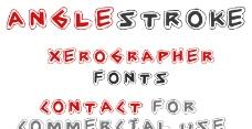 Angle Stroke 英文字体