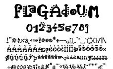 Flagadoum 英文字体