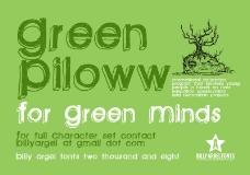 Green Piloww 英文字体