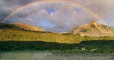 云山彩虹图片