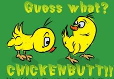 Chicken Butt 英文字体