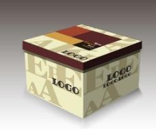 咖啡色蛋糕盒盖子 (平面图)图片