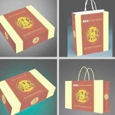 苹果包装盒和手提袋 (展开图)图片