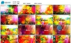 五彩彩色光斑AE模版