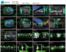 綠色動感視頻AE模版