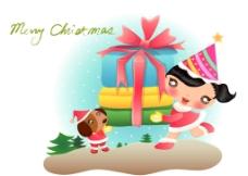 动漫圣诞广告图片