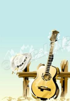 卡通吉他圖片