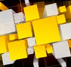 动感立体方块矢量图