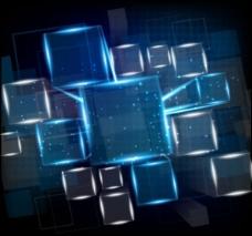 方块概念背景矢量图