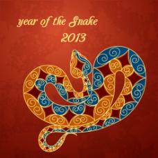 2013年蛇年贺卡设计图片