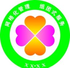 网格化管理组团式服务标志图片