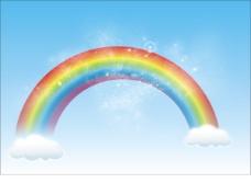 美丽彩虹矢量素材