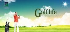 高尔夫海报图片
