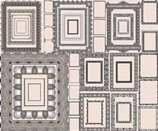 密集花纹古典纹样装点边框矢量素材