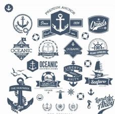 海洋徽章标签