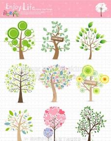 树木插画图片