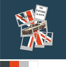 旗帜抽象图案图片