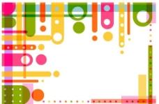 彩色圓環背景圖片