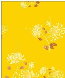 秋之畅想 黄色底 牡丹花图片