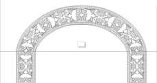 拱形花格图片