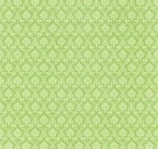 翠绿色欧式花纹背景图片