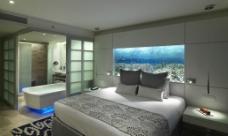 马尔代夫宁静岛水屋主卧图片