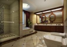 某欧式风格别墅主卧卫生间效果图片
